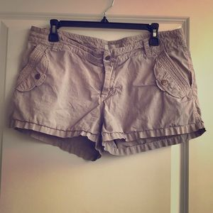 Joie Shorts 12 Khaki Pockets 100% Cotton